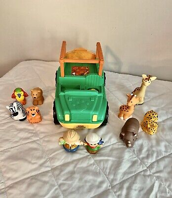 Fisher Price Little People Zoo Talkers Animal Sounds Safari Truck/Jeep- Extras