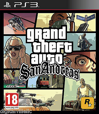 Grand Theft Auto San Andreas Sony Playstation 3 Brand New Factory Sealed Gta Ps3