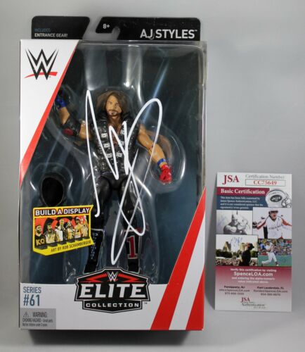 AJ STYLES SIGNED WWE ELITE COLLECTION 61 FIGURE MATTEL AUTOGRAPHED +JSA COA