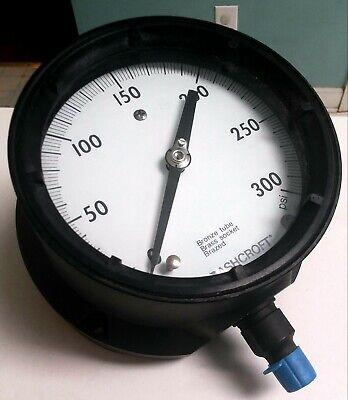 Ashcroft Duragauge Pressure Gauge 45-1279-as-02l-300 14 Npt 4-12 Face