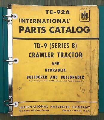 International Crawler Td-9 Parts Catalog