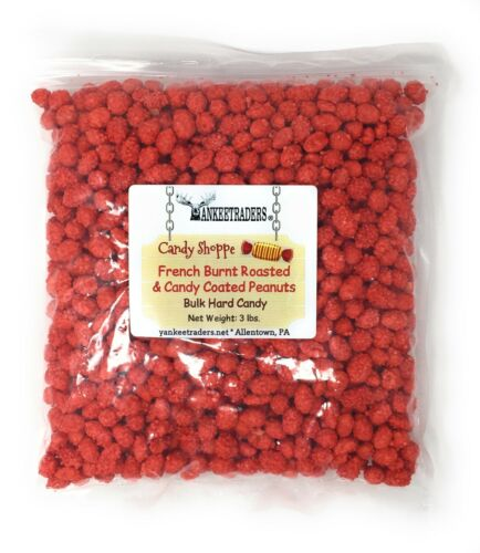 French Burnt Roasted & Candy Coated Peanuts, 3 lbs. ~YANKEETRADERS~FREE SHIPPING