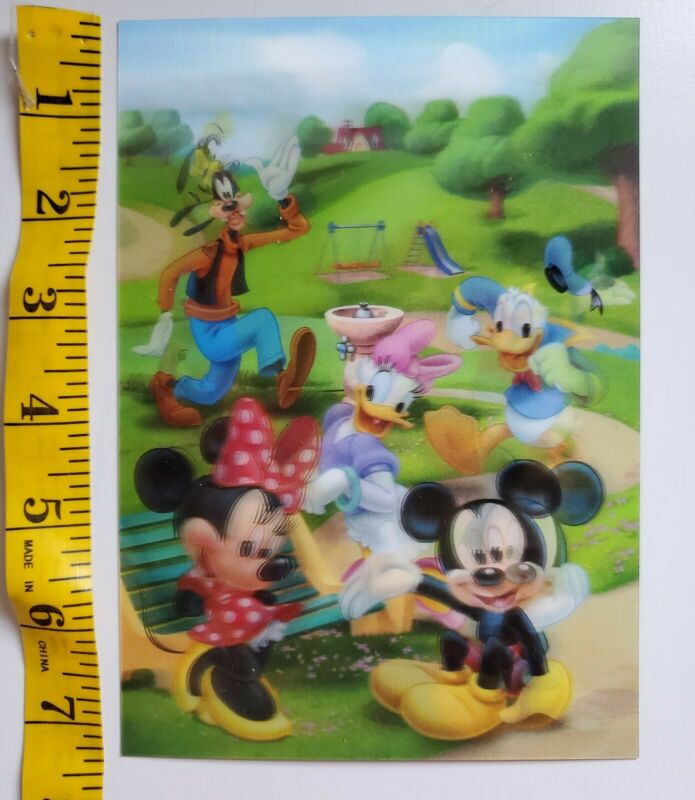 Disney Movie Club 3D Lenticular Card 5x7 Mickey Mouse and Friends