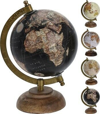 21.5cm Vintage Style Rotating Globe Atlas Swivel Map Earth Geography World Gift