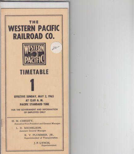 1965 Western Pacific Railroad ETT #1