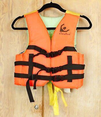 CHILD YOUTH CASTRO LIFE JACKET VEST Boating Lake Ocean 3 Interlocking Clips