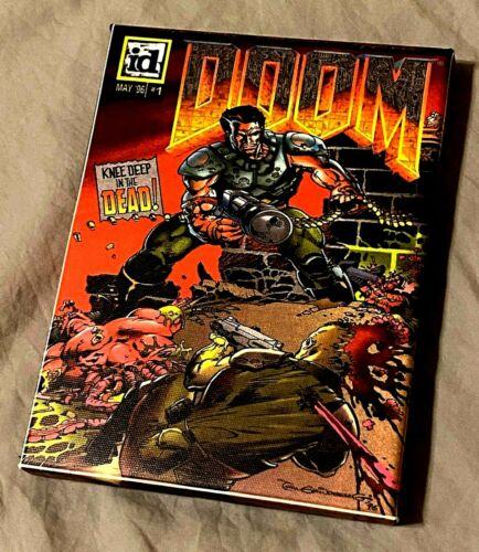 "DOOM Eternal Comic May 1996 Cover Reprint 11-22-19 on Canvas Print Frame 8"" x 6"""