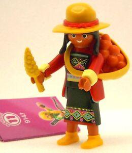 INDIA-Mujer-PLAYMOBIL-FIGURAS-11-Chicas-9147-para-Peru-Inka-Sombrero-America
