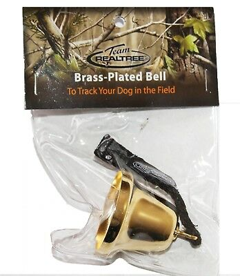 Real Tree Grouse Hunting Brass Plated Bell Medium Tone Bird Dog Training