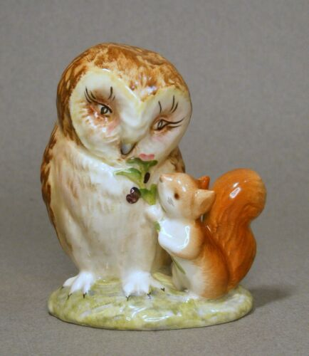 Beatrix Potter Old Mr. Brown Owl & Squirrel Warne Beswick England Lovely Colors