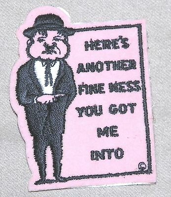 Oliver Hardy Cartoon vintage patch - Classic Film Character- RARE & Collectable!