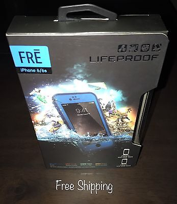 """iPhone 6s / Authentic Lifeproof Fre Waterproof-Case  """"Blue""""   FREE SHIPPING!"""