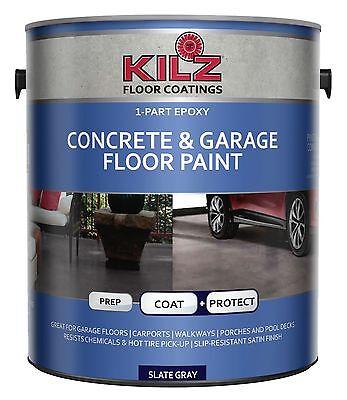 KILZ  1-Part Epoxy Acrylic Interior/Exterior Concrete & Garage Floor Paint Sa...
