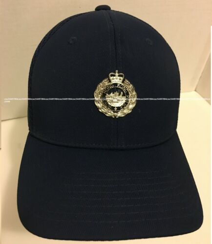 Cap #1C - Roya.l Hong. Kong. Police. w/PTU chrome silver badge,