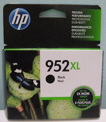HP 952XL (F6U19AN) HIGH YIELD GENUINE BLACK INK CARTRIDGE, NEW IN BOX