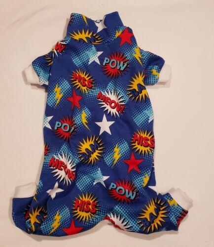 Blue Meow Cat Knit One Piece Pajamas PJ