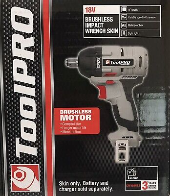 ToolPRO CIW180HB9 18V 1/2'' Cordless Brushless Impact Wrench Skin Only