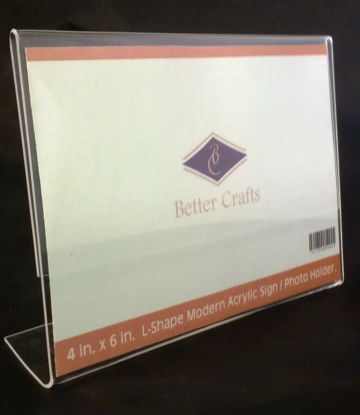 как выглядит Better Crafts Horizontal Slanted L-Shape Acrylic Sign Holder - 2 Pack. фото