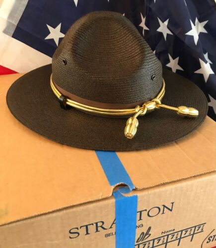 NEW in box STATE TROOPER/SHERIFF/ POLICE HAT/LAWMAN/ STRATTON/MILAN- BROWN SZ 7
