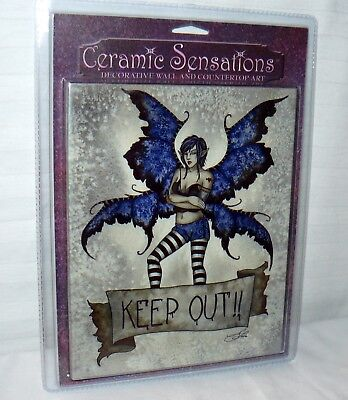 Ceramic Sensations Decorative Wall And Countertop Art Amy Brown Fairy Keep Out ()