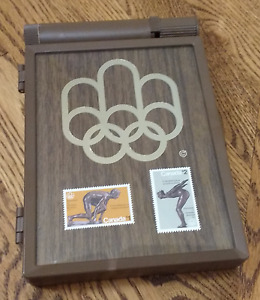 1976 Montreal Olympic Stamp Set w/ 12 Stamps and case