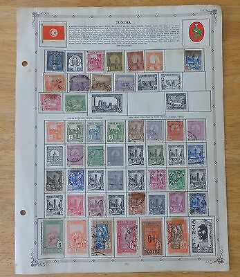 TUNISIA FRANCE NORTH AFRICA STAMPS LOT year 1889 to 1956 ?