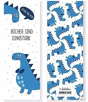 6er Set Dinosaurier-Lesezeichen für Jungen (Kindergeburtstag-Mitgebsel) NEU ()