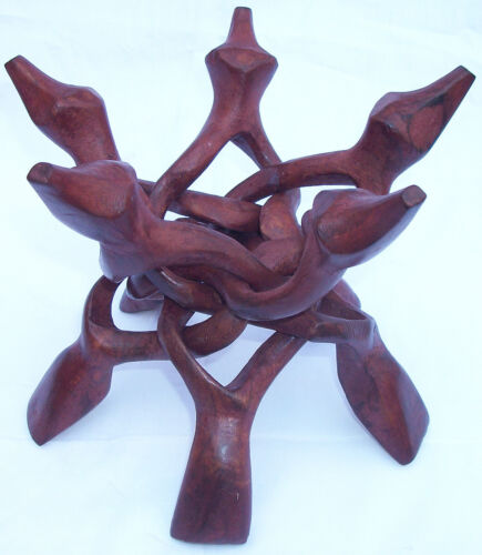 Wooden Hand Carved five Leg Stands for Crystal Balls, Spheres, Eggs, Minerals