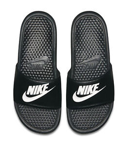f2ce80e984ef Nike Benassi JDI Slide 343880-090 Black White Mens US Size 8 UK 7 ...