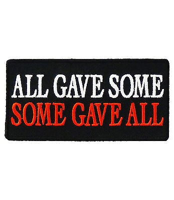 All Gave Some Some Gave All Patch, POW MIA