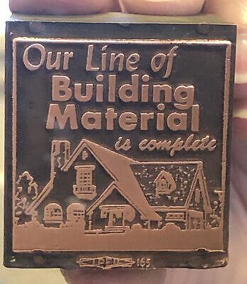Vintage Wood Metal Printing Print Block Stampsour Line Of Building Material