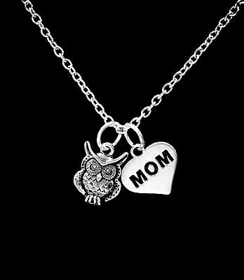 Owl Charm Necklace Animal Nature Bird Mother's Day Mom Christmas Gift Mama