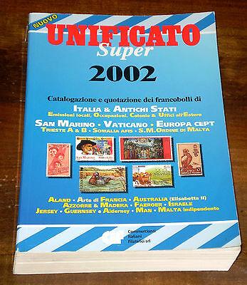 CATALOGO UNIFICATO Super 2002 XXVIII Ediz. C.I.F. Catalogazione Quotazione usato  Asti