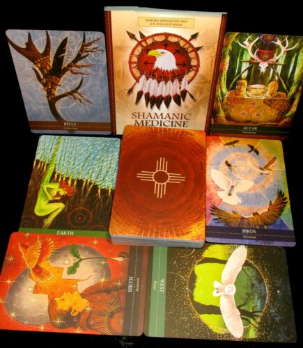 SEALED NEW! SHAMANIC MEDICINE ORACLE CARDS & BOOK ACCESS GREATER MYSTERIES HEAL