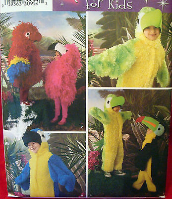 SEWING PATTERN Simplicity 3663 Child BIRD PARROT TUCAN sz 3-8 Costume  - Tucan Costume