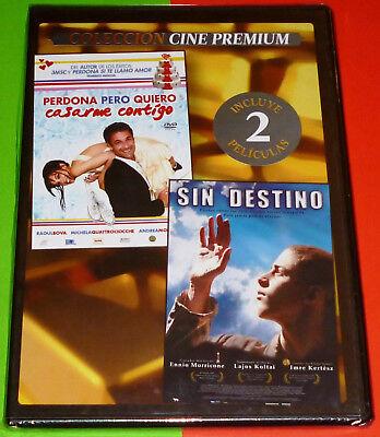 SIN DESTINO + PERDONA PERO QUIERO CASARME CONTIGO -DVD R2- CAJA FINA/SLIM Precin, usado segunda mano  El Aeroport del Prat