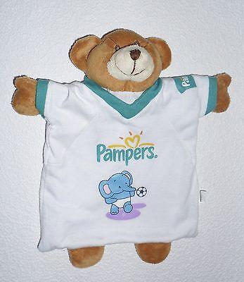 💥 Pampers Bär Teddybär Teddy Handpuppe Schmusetuch Schnuffeltuch Kuscheltuch *