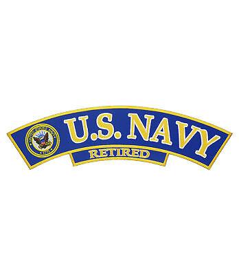U.S. Navy Retired Logo Rocker, Military Rocker Patches