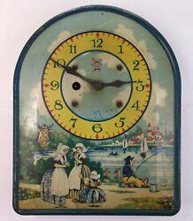 Irving Miller - Tin Litho Dutch Clock - Litho Nice