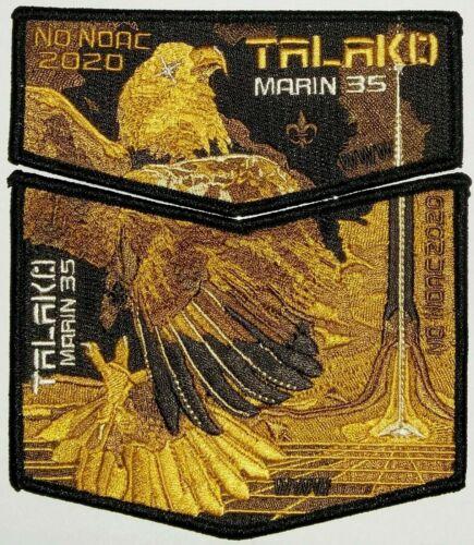 TALAKO OA LODGE 533 BSA MARIN COUNTY COUNCIL 35 CA 2020 EAGLE 2-PATCH FEW MADE!!