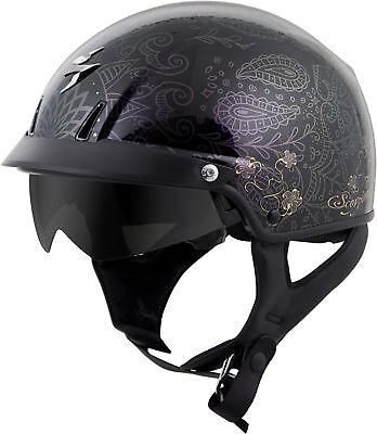 Scorpion EXO-C110 AZALEA Cruiser Motorcycle Half Helmet (Black/Gold) Choose -