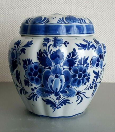 PORCELEYNE FLES - ROYAL DELFT GINGER JAR - TOBACCO JAR - EXCELLENT