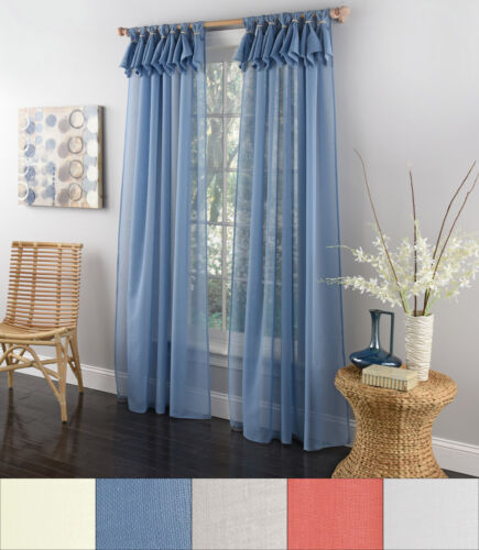Breeze Semi Sheer Window Curtain Single Panel 84″x54″ Curtains & Drapes