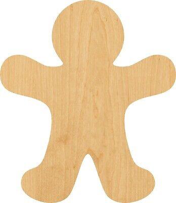 Gingerbread Man #0593 Laser Cut Out Wood Shape Craft Supply – Woodcraft](Gingerbread Man Craft)