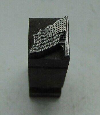 Vintage Printing Letterpress Printers Block Dingbat Usa Flag 516 X 28