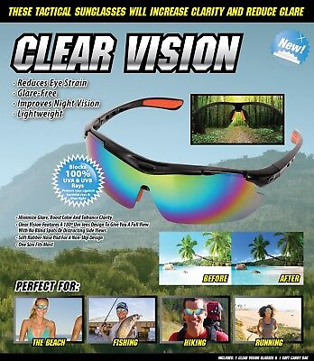 CLEAR VISION tactical  sunglasses perfect for men and women (Clear Sunglasses For Men)