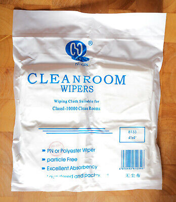 REINRAUM T CHER CLEANROOM WIPERS 180 ST CK 10X10CM