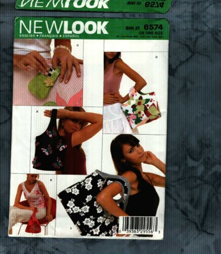 New Look Pattern #6574  Handbags 5 Styles Uncut
