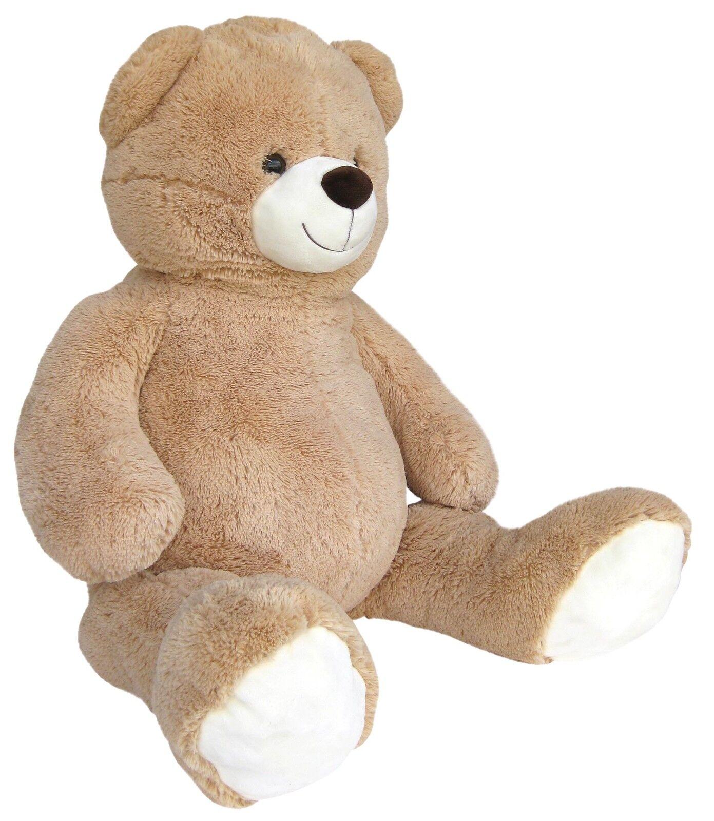 xxl teddyb r 140cm gross beige pl schb r teddy stoffb r pl sch pl schtier b r eur 64 95. Black Bedroom Furniture Sets. Home Design Ideas