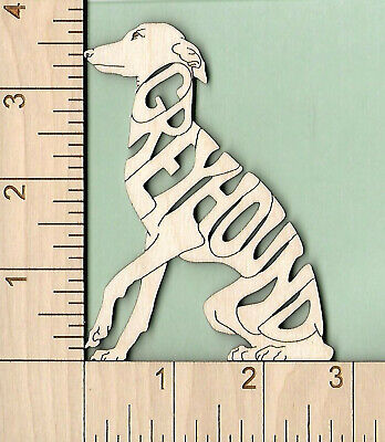 GREYHOUND dog sitting laser cut wood Magnet Great Gift (Greyhound Dog Magnet)